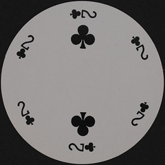 Round Playing Card 2 of Clubs (Leo Reynolds) Tags: playing club canon eos iso100 deck card round squaredcircle clubs 60mm f80 circular playingcard carddeck 40d hpexif 0067sec xleol30x sqset079
