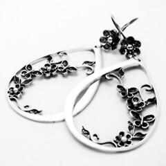 Silver Filigree Earrings (Alma_Nostra) Tags: flower silver crafts earrings portuguese filigree
