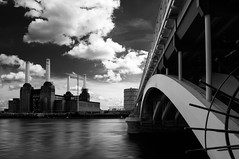 Battersea Power Station (martinturner) Tags: uk england white black west station thames river power south north bank battersea decomissioned coalfire martinturner