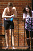 On the Balcony (MalB) Tags: cambridge shirtless pentax cam caius rowing lycra k5 rowers mays maybumps