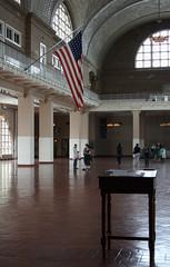 Registration Hall, Ellis Island (h_savill) Tags: city nyc travel light holiday newyork window museum hall famous sightseeing may visit tourist iconic immigration ellisisland 2012