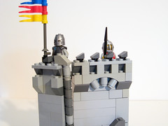 Coastal Outlook (M2com McKinney) Tags: castle wall coast lego medieval knights soldiers outlook