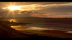 on fire ... (John FotoHouse) Tags: sunset beach silhouette landscape 50mm seaside northumberland lindisfarne 2012 dolan johnfotohouse