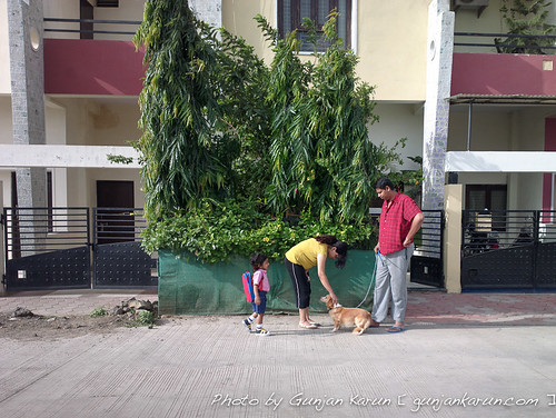 Gaara and Madhulika playing with neighbors puppy
