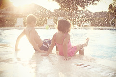 This is Summer! (stephmull) Tags: summer hot wet water pool kids swimming fun evening splash 3651for2012