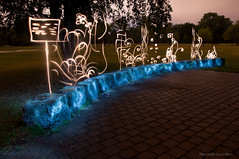 Light Garden 2 (FDU4) Tags: park longexposure flowers plants plant lightpainting flower tree nature stone night dark painting outdoor flashlight d90