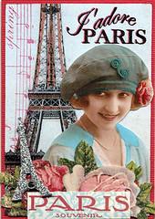 Springtime in Paris ATC (wendyofva) Tags: music paris rose atc spring eiffeltower souvenir