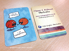 Naomi C Robinson's Business Cards 2012 (Hi Ni) Tags: art illustration tomato graphicdesign artist comic designer joke humour illustrator custom businesscard cardgame personalised forkids mailer memorycards characterdesign promotionalmaterial fiveaday forchildren roundedcorners moocards moobusinesscards moocom greetingcarddesign childrensbookillustrator artistpromo illustratorforhire forlicense artistbusinesscard childrensbookdesigner