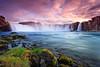 Waterfall of the Goði (Joe Azure) Tags: sky water clouds waterfall iceland godafoss ostrellina