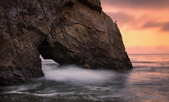 Hole in the Wall (Silent G Photography) Tags: california ca longexposure sunset nikon pacific le nd centralcoast pismo pismobeach 2012 hoya reallyrightstuff rrs neutraldensity singleraw nikond7000 nikkor1635mmf4 5stopndfilter markgvazdinskas silentgphotography