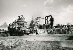 Aufbereitungsanlage Avus / Processing Plant (bartholmy) Tags: truck construction pyramid baustelle constructionworkers cairo lorry 1950s builders pyramide gizeh lastwagen sacks lkw bauarbeiter kairo baumaschinen constructionmachinery säcke baumaschine buildingmachinery