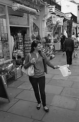 Bucket (Stemack Street) Tags: street leica blackandwhite woman film 35mm bucket kodak candid yorkshire trix streetphotography whitby m6 tx400