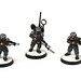 Imperial Guardsmen with lasguns and voxcaster