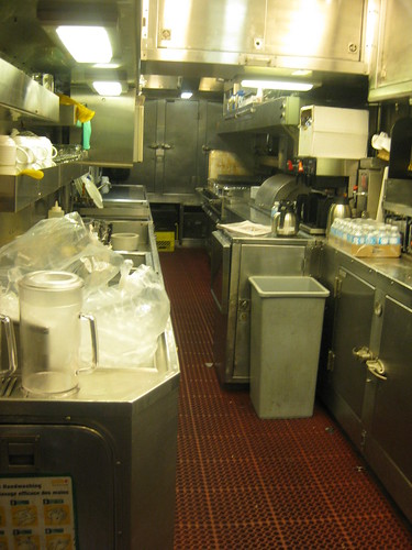 VIA Rail Kitchen at the Dining Car