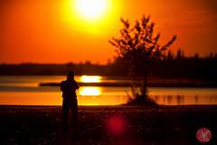 I am not the only one noticing the beauty around.. (Kasia Sokulska (KasiaBasic)) Tags: park sunset lake canada landscape photographer national alberta elkisland astotin