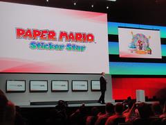 E3 Expo 2012 - Nintendo Press Event - (Doug Kline) Tags: la expo nintendo convention e3 2012 papermario nokiatheater stickerstar wiiu