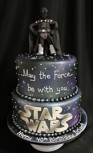 Darth Vader figurine cake
