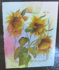 Brilliant Sunflowers -watercolor