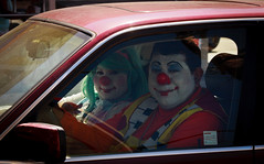 Just two clowns going for a drive... with a trunk full of children. (A.C.Thamer) Tags: funny driving clowns clowncar acthamer