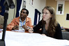 Kindu Mekonnen and Beth Cullen at the National Platform Meeting on Land and Water Management in Ethiopia