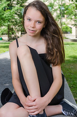 ve & Justine Burgess (TheEvilDonut Photography) Tags: portrait outdoors youngwoman teen young dress summer longhair beautiful
