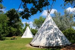Indian Teepee (Piedmont Fossil) Tags: northdakota fort abrahamlincoln state park indian nativeamerican teepee tipi