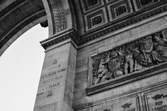 Arc de Triomphe II (Shaw Horton) Tags: arcdetriomphe arcdetriomphedeltoile paris france placecharlesdegaulle champslyses summer blackandwhite
