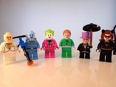 Lego Batman 66 Villains (Alien Hand) Tags: lego batman 66 villains freeze joker penguin catwoman riddler egghead bootleg xinh 153