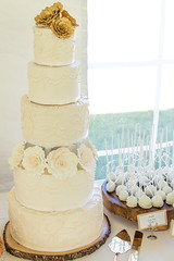 5 Tier Wedding Cake (brian_barney9021) Tags: 5 tier wedding cake meringue lacrosse wi wisconsin bakery fondant flowers dessert gold roses lace buttercream frosting white food photography