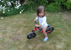 Robyn with Balance Bike (Peter Ashton aka peamasher) Tags: child children grandchild granddaughter robyn