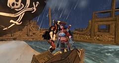 Jamee on the shipwrecked Island_001 (Libertybelle Lyric) Tags: libertybellelyric joeyaboma whitetigersislands pirate hunt secondlife destinations