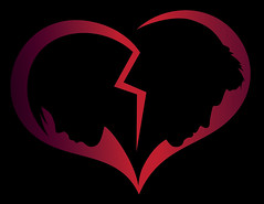 Learn From Your Past And Use It To Heal Your Broken Heart (Break_24) Tags: woman man relationship breakup separation sadness illustration vector emotion concept love harship rejection face silhouette couple bergen hordaland norway how heal from broken heart