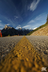 Moraine Lake Road (ryan.kole32) Tags: banff banffalberta banffnationalpark nationalpark alberta canada canadianrockies rockies rockymountains landscape nature beauty beautyinnature moraine morainelake lake road highway perspective depthoffield pov dof bluesky clouds sony sonya77