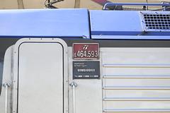 Targa Laterale E464.593 (simone.dibiase) Tags: e464 regionale veloce torino porta nuova lingotto ferrovie dello stato trenitalia livrea dtr targa laterale 593 prodotta nello stabilimento bombardier di vado ligure nel 2011 adtrainz ad trainz 10214 cuneo train station stations rail rails railway railways italy italia france francia loco locos locomotive locomotiva italiane fs nikon d3300 dslr camera nikond3300