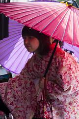 With Umbrella (HansPermana) Tags: kyoto japan geisha geiko kimono traditional gion costume dress dressingup