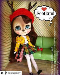 """""""Nara was the cutest deer doll. She had big, sweet eyes and a curious nature. She lived in Japan but spent hours daydreaming of Scotland after finding a box of old postcards in a second-hand shop."""""""