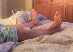 In Bed (Ped-antics) Tags: sexytoes sexyfeet ankles arches toes barefoot feet female foot footfetish femalefeet