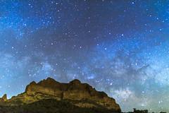 Milky Way Rising (Carl Cohen_Pics) Tags: picketpostmountain pinalcounty superior arizona astrophotography milkyway mountain sky stars southwest saguaro nature night nightsky nightphotography canon cactus spring
