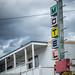 Old Skool motel sign on the Highline - Montana