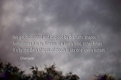 Inspired (Cheryne) Tags: inspired quotation poetic sky cloud drama cheryne outdoor tree nature