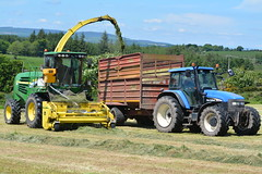 John Deere 7500 SPFH filling a Herron Trailer drawn by a New Holland TM155 Tractor (Shane Casey CK25) Tags: john deere 7500 spfh filling herron trailer drawn new holland tm155 tractor tm 155 self propelled forage harvester jd green watergrasshill silage silage16 silage2016 grass grass16 grass2016 winter feed fodder county cork ireland irish farm farmer farming agri agriculture contractor field ground soil earth cows cattle work working horse power horsepower hp pull pulling cut cutting crop lifting machine machinery nikon d7100 traktori tracteur traktor trator trekker cignik