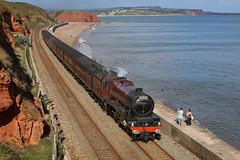 Princess Elizabeth steam train (IWPICS) Tags: steamtrain locomotive 6201princesselizabeth devon dawlish uk cathedral express sea england