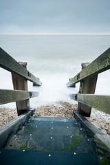 Going down (Aaron James Rodgers) Tags: coastline corton leefilter nikond750 suffolk uk beach landscape longexposure sand sea stones