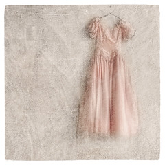 The Pink Dress (Stan Farrow Photography) Tags: select dress wall pink hanger blur rough texture