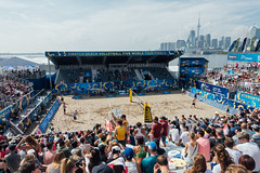 Beach Volleyball (dtstuff9) Tags: toronto ontario canada the swatch beach volleyball fivb world tour finals lake skyline sand polson pier docks cherry sport