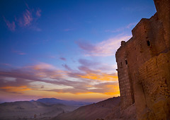 Hilltop Fort In The Ancient Roman city of Palmyra, Syria (Eric Lafforgue) Tags: travel sunset sky color colour castle tourism archaeology monument horizontal architecture outdoors photography ancient day desert roman fort hill middleeast nopeople unescoworldheritagesite unesco arabic arabia syria ancientcivilization fortress palmyra arid thepast isolated palmira siria traditionalculture levant 463 syrien syrie sirja tadmor traveldestinations colorimage famousplace suriye   syri nationallandmark placeofinterest oldruin unescoworldheritagelist internationallandmark ancientcivilisation mediterraneanculture  sria szria builtstructure  syrianculture westernasia architectureandart   middleeasternculture  suriah sirija  cp  sora