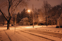 Nightime Winter Glow (chrisjake1) Tags: winter ohio snow night evening cleveland nightime westpark triskett
