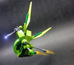 LEAF (Light Enabled Assualt Fighter) (2) (SuperHardcoreDave) Tags: lego tech space future scifi weapons spacecraft moc starfighter spacefighter