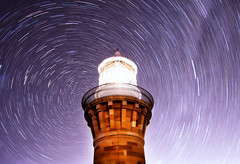 Purple Vortex (damien.lee) Tags: longexposure lighthouse night stars purple sydney australia palmbeach barrenjoey startrail