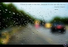 """I love to walk in the rain, because no one can see me cry"" , Charlie Chaplin (Usman Hayat ~back~) Tags: blur rain nikon charlie nikkor chaplin hayat d800 usman 24120 uhayat"